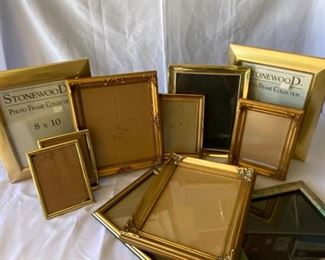 Eleven Gold Tone Frames