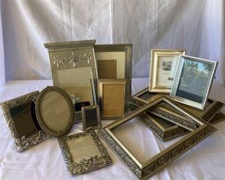 Twelve Silver Tone Frames