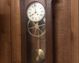 """Big wheel"" antique clock(working)"