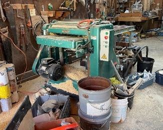 """Grizzly G5851Z 24"""" Variable Speed Planer Stand and Shopfax wheels"""