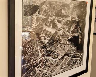 Large vintage aerial photo of Studio City Holls