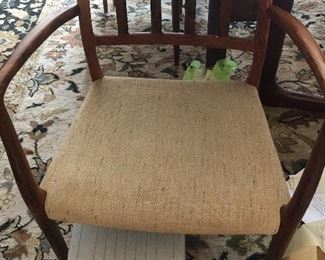 One of Eight Chairs Two Arm  Danish