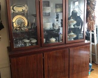 Rosewood China Cabinet & Contents
