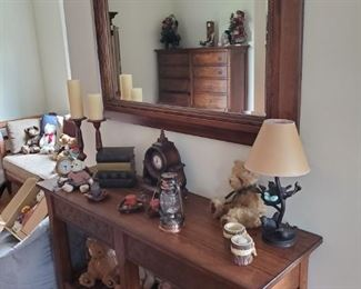 Ethan Allen Table and Mirror