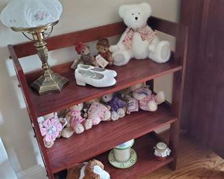 Lamp with Globe and Teddy Bears