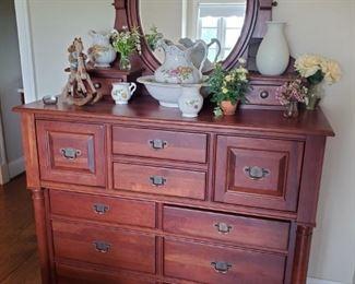 Stunning Dresser with Mirror
