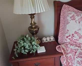 Stiffel Lamp and Nightstand