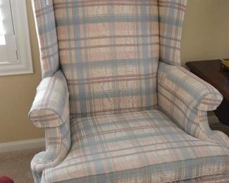 Ethan Allen wing back chairs (2)
