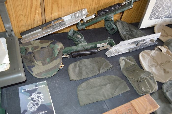 Some military, hats, clothes, misc items