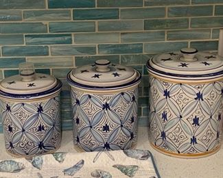 pretty kitchen items in shades of blue and green