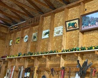 Over 300 toy farm tractors John Deere