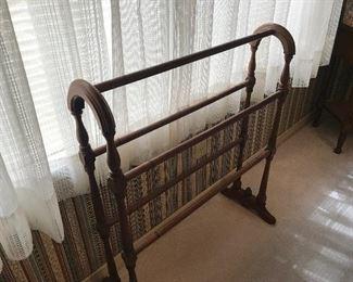 Antique quilt rack