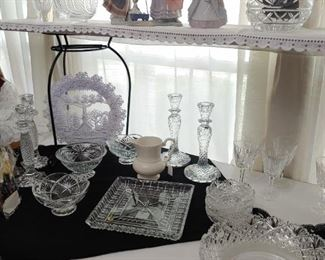 Waterford Crystal. Most still have labels on them