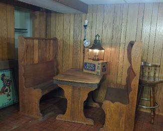 Pub seating and table