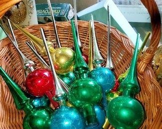 Vintage, Christmas. ornaments