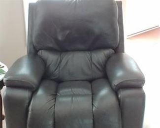 Gray leather La-z-boy recliner