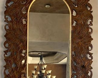 Beautiful Carved Wood Mirror