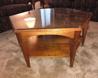 1 of 6 -  Mid Century Modern Hutchinson Fine furniture wood and glass coffee table 1 of 5 pieces