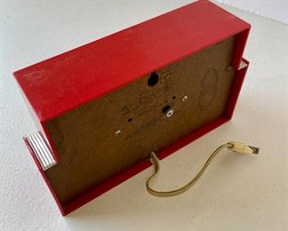 "03/  Techron • red vintage clock • 8½""x 2¾""x 5"" • $50"
