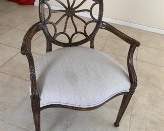 $185- Web back arm chair