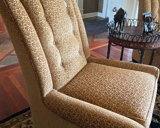 We have a pair of these beautiful high-back chairs