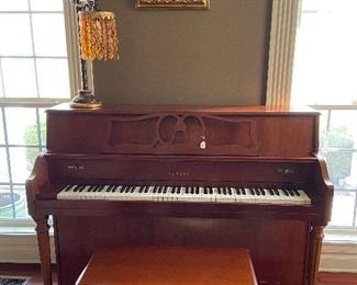 Great condition, Yamaha upright piano with bench.