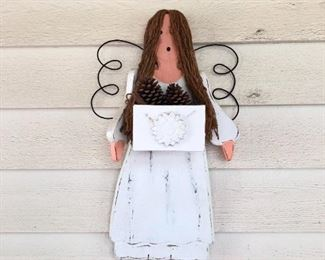 Angel made of Wood Outdoor Decor