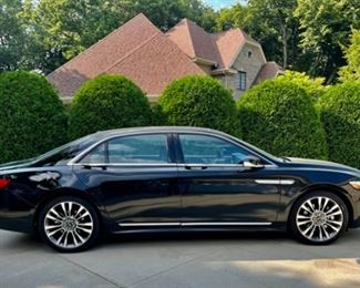 REDUCED!  $39,500.00 NOW, WAS $43,000.00.............2017 Lincoln Continental Reserve Luxury Sedan, 12,000 Miles, Exterior: Black Velvet, Interior: Terra/Ebony Luxury Leather, 2.7L GTDI V6 Engine, 4 Wheel Drive, Power Sunroof, Moonroof, Heated/Cooling/Massage Feature on Front Seats, Back Seats fold forward, Rear View Camera, Rear Window Power Sunshade, 360 Sensor and Foot Activated Trunk, Winter and Summer Floor Mats and much more!