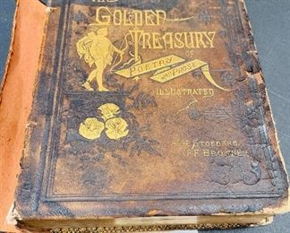 9-Book The Golden Treasury of Poetry & Prose Browne & Stoddard Antique 1st edition 1883. As is $40