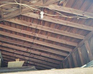 Inside of shelter in the barn
