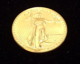 1/2 OUNCE $25 GOLD AMERICAN LIBERTY GOLD COIN