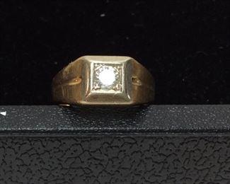 14KT GOLD & DIAMOND RING, 6.3g,s 9