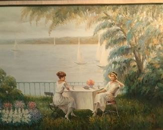 Beautiful oil by Ray Thomas  Listed artist, important size and subject matter