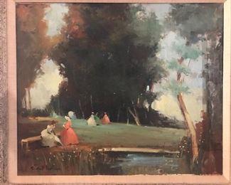Amazing oils on canvas Spain 1930