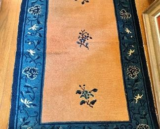 """$225 Rug with blue border 57"""" x 38"""""""