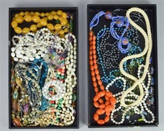 7Beaded Jewelry GroupingGrouping of beaded jewelry. Mostly necklaces.