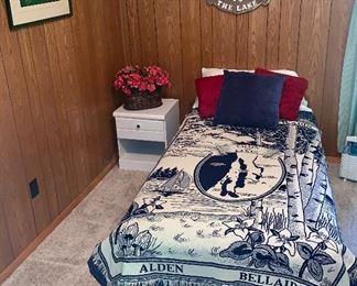 Twin Size Bedroom Set (2) Nautical Lake Wall Hanging