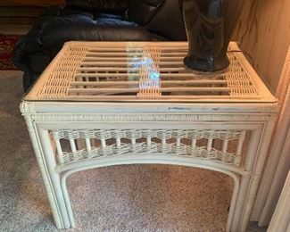 Rattan & Glass End Tables