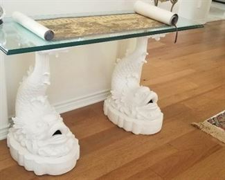 Dolphin console table