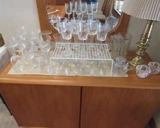 Crystal and glass stemware in many styles