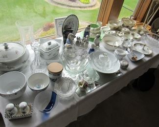 Cordon Bleu soup tureen and other pieces.  Some Blue Delft, Lenox Christmas and more.