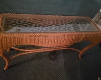 Rattan coffee table that matches the previous side table
