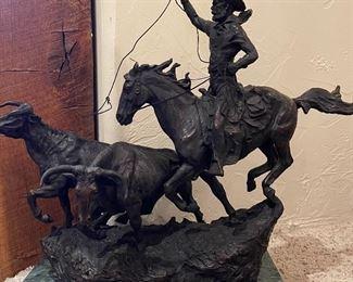 CM Russell Bronze Sculpture