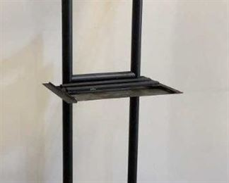 """Located in: Chattanooga, TN Rolling TV Stand Size (WDH) 27""""W x 26-3/4""""D x 73-1/2""""H **Sold As Is Where Is**  SKU: A-2"""