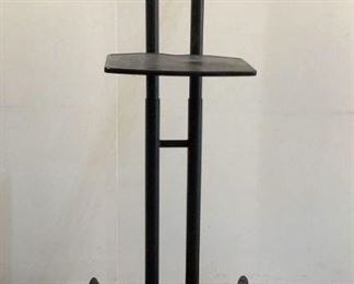 """Located in: Chattanooga, TN Rolling TV Stand Size (WDH) 33""""W x 24""""D x 63-3/4""""H **Sold As Is Where Is**  SKU: A-2"""