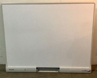"""Located in: Chattanooga, TN MFG Panasonic Model UB-T880 Ser# D3707MA1150 Power (V-A-W-P) 100-240V - 50/60Hz - 5A Electric Panaboard Size (WDH) 65-1/4""""W x 52""""H **Sold as is Where is**  SKU: E-WALL Unable To Test"""