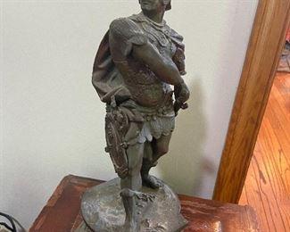 antique spelter statue