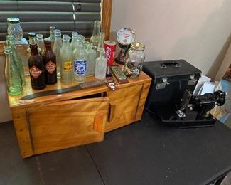 Old Bottles and Portable Sewing Machine