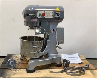 """Located in: Chattanooga, TN MFG Black Diamond Model BDPM-10 Ser# 2102019 Power (V-A-W-P) 600W - 60Hz - 1Ph 10 Qt. Planetary Mixer Size (WDH) 14-3/4""""W x 15""""D x 24-1/4""""H *Notice* Before Placing Your Bids, These Items Are One of the Following: Returned Item, Discontinued and / or Damaged Product. It is Possible That Items Could Be Missing Parts / Pieces. Compass Auctions & Real Estate LLC Is Not Responsible For Any For Any Damaged or Missing Items So Please Inspect Before Bidding. Thank you, Team Compass* **Sold As Is Where Is**  SKU: J-5-B Tested Powers On"""