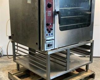 """Located in: Chattanooga, TN MFG Blodgett Model BCX-14E Ser# 070208JW031S Power (V-A-W-P) 60Hz, 3Ph, 50A Combination Oven & Steamer Size (WDH) 40""""Wx41""""Dx56""""H *Sold As Is Where Is*  SKU: A-4 Unable to Test"""